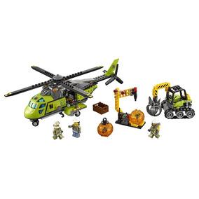Lego Volcan Equipo Suministros De Construcción Helicóptero