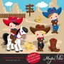 Kit Imprimible Vaqueros Cowboy 7 Imagenes Clipart