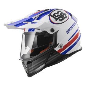 Casco Motocross Ls2 436 Pioneer Quaterback Doble Visor