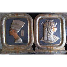 Par De Obras Egipcias Hechas A Mano En Metal Imp. Egipto