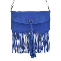 Bolsa Carteira Franjas Azul