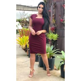 Vestidos Moda Evangélica Tubinho Bicolor Estampados Ref 174