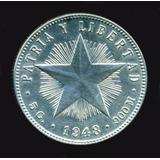 Cuba Moneda De Plata 20 Centavos Año 1948- Sin Circular