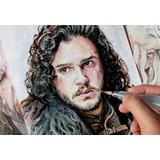 Retratos A Color Con Acuarela Y Tinta Arte Dibujo A Mano