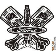 Calcomanías Logo Ford 02 - 30 X 25 Cm Graficastuning