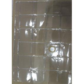 Folha Plastico Moedas 24 Divisões 9 Furos Universal -sem Aba