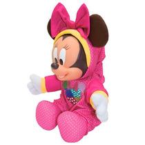 Boneca Grande Pelúcia Disney Minnie Rosa Baby Kids 35cm