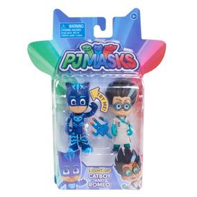 Pj Masks 2 Piezas Heroe Vs. Villano Heroes En Pijamas Luces