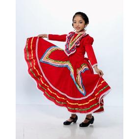 Vestido Jalisco Niña. Tallas 2 A 12