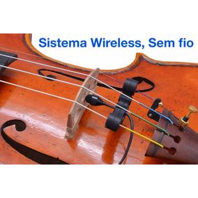Microfone Profissional Para Violino E Viola Wireless Sem Fio