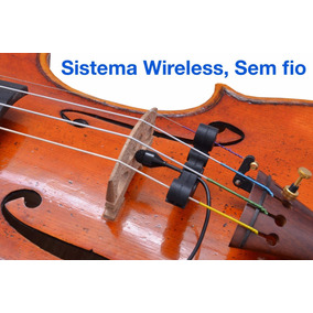 Microfone Profissional Para Violino Viola Wireless Sem Fio