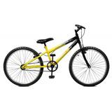Bicicleta Aro 24 Amarelo/preto Masculina - Master Bike