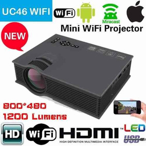 Mini Projetor Led Profissional 1200 Lumen Wifi Wireless Uc46