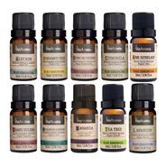 Kit 10 Óleos Essenciais Com 10ml Via Aroma Aromaterapia