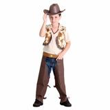 Roupa Country Cowboy Vaqueiro Inf Tam G 10/12 Festa Junina