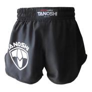 Shorts Luta Muaythai Kick Sanda Mma Htx Tanoshi Preta