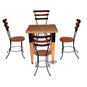 Jogo De Mesa Com 4 Cadeiras 3 Réguas - 12 Vezes Sem Juros