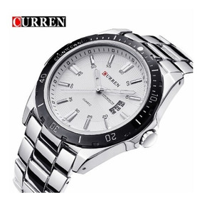Relógio Curren 8110 Prata De Luxo Importado Pronta Entrega