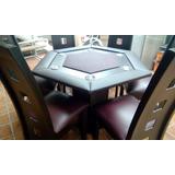 Mesa De Poker Hexagonal Con Sillas