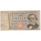 Billete Italia 1000 Liras Giusseppe Verdi La Scala De Milan