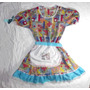 Vestido Fantasia De Festa Junina Infantil Tam 8 Maria Bonita