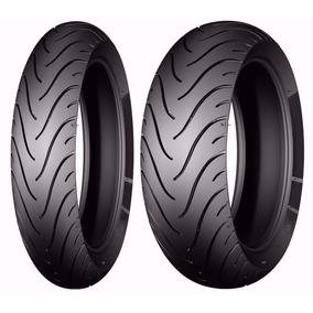Par Pneu Michelin Cb 300 Dianteiro 110 E Traseiro 150 Largo