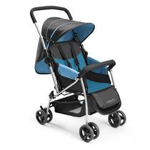 Carrinho De Bebê Reclinavel Berço Flip Azul Menino