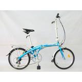 Bicicleta Plegable De Aluminio Peerless Aro 20 Celes¡nuevas!