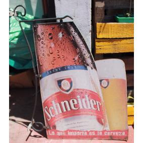 Subasta Base $1 / Antiguo Cartel D Chapa Cerveza Schneider