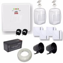 Kit Alarme Casa E Comércio 1 Central Jfl Asd200 +6 Sensores
