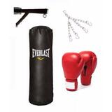 Saco De Box Lleno De 1,20cm+soporte+cadena+guantes Resistent