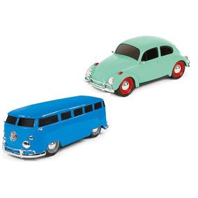 Fusca E Kombi Carros Antigos Brinquedo Roda Livre - Poliplac