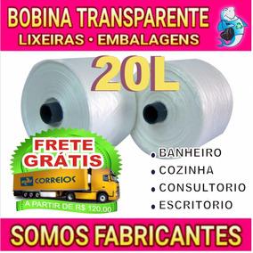 Saco De Lixo Bobina 20l Transparente Leitoso 210 Unidades