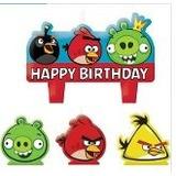 Vela De Aniversário Angry Birds 04peças No Pacote