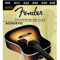 Set De Cuerdas Fender Para Guitarr Electro-acustica 010 60xl