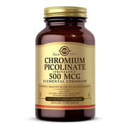 Solgar - Chromium Picolinate 500 Mcg Vegetable Capsules 120