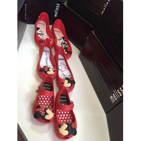 Sapatilha Mini Melissa Mickey Minnie Beijo Infantil Kit 4