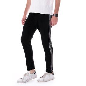 Pantalón Casual Hombre Con Lineas Blancas Importado Italiano