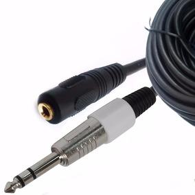 Cabo Extensor P2 P10 Stereo Fone Ouvido Retorno Tv 5 Metros