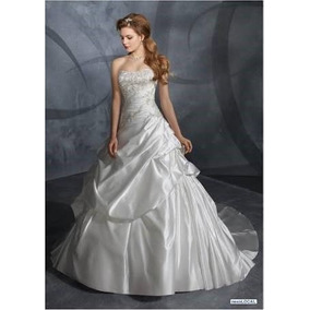 Vestido De Novia Mori Lee Color Hueso Cristal Swarovsky Uso