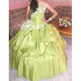 Hermoso Vestido De 15 Años Color Verde Oliva