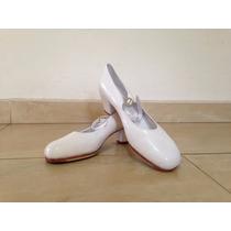 Zapatos De Danza Folklorica Blancos Sho