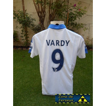 Jersey Leicester City Blanca Vardy 9 Campeón Inglaterra 2016
