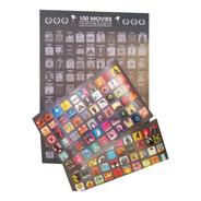 Lámina Con Stickers De 100 Peliculas