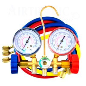 Manómetros Manifold Con Mirilla Refrigeración Y Aire Acondic