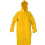 Capa De Chuva Em Pvc Forrada Amarela Com Capuz Gg Plastcor