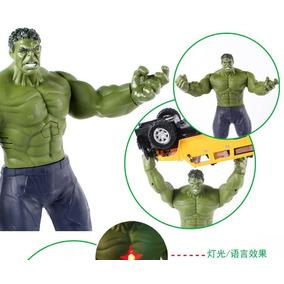 Boneco Hulk Articulável Som E Luz 30 Cm, Márvel Fotos Reais