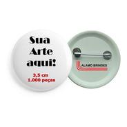 Boton Button Botton Broche Personalizado 1.000 Pçs De 3,5 Cm