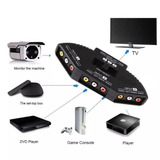 Selector 3 En 1 Audio Video Rca Switch Tv Dvd Lcd Wii X Box