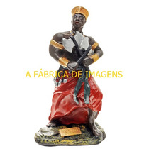 Escultura Orixa Xango 23cm Ogum Ronda 20cm Imagem Estatua